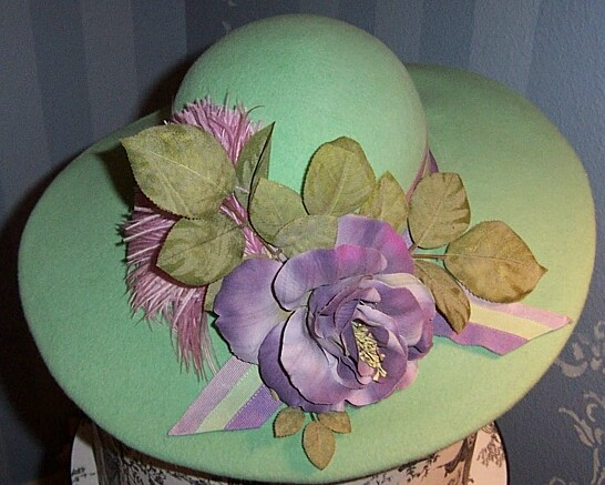 'Mint 4 U Felt Hat' from the web at 'http://hatgoddess.com/Mint4U2.jpg'