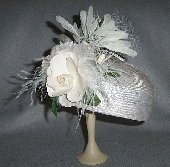 White Gardenia Straw Hat